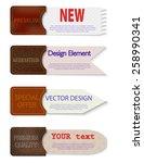 set of abstract vector paper... | Shutterstock .eps vector #258990341