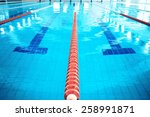 lane swimming pool. closeup of... | Shutterstock . vector #258991871