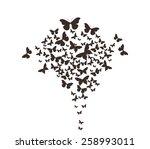 butterflies design | Shutterstock .eps vector #258993011