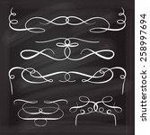 calligraphic design elements... | Shutterstock .eps vector #258997694