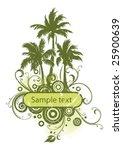 frame  palms   Shutterstock .eps vector #25900639