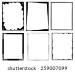 grunge frames set. vector eps10. | Shutterstock .eps vector #259007099