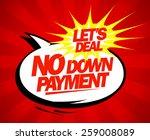 no down payment pop art design. | Shutterstock .eps vector #259008089