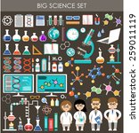 big science set. infographics.... | Shutterstock .eps vector #259011119
