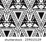 triangle repeating background | Shutterstock .eps vector #259015139