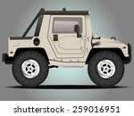 vector modern cartoon car ... | Shutterstock .eps vector #259016951