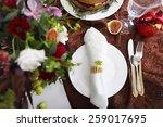 dessert table for a wedding.... | Shutterstock . vector #259017695