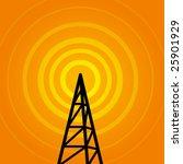 vector background with radio... | Shutterstock .eps vector #25901929