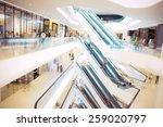 people in motion in escalators... | Shutterstock . vector #259020797