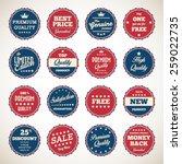 vintage labels set | Shutterstock .eps vector #259022735