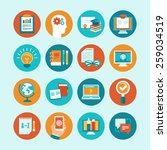 vector educational icons and... | Shutterstock .eps vector #259034519