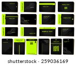 business cards. 18 various... | Shutterstock .eps vector #259036169
