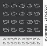 folder icons   2 of 2    black... | Shutterstock .eps vector #259037204