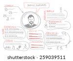 vector original minimalist cv   ... | Shutterstock .eps vector #259039511