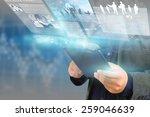 businessman working on virtual... | Shutterstock . vector #259046639