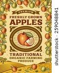 retro apples poster. fully... | Shutterstock .eps vector #259048841