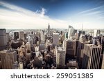 new york skyline  view from... | Shutterstock . vector #259051385