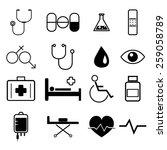 medical icons set illustration... | Shutterstock .eps vector #259058789