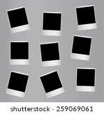 randomly distributed retro... | Shutterstock . vector #259069061
