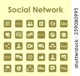 set of social network simple... | Shutterstock .eps vector #259080995