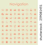 set of navigation simple icons   Shutterstock .eps vector #259081451