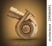 golden turbocharger. high... | Shutterstock . vector #259084091