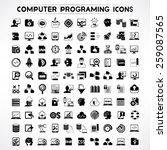 computer programming icons set  ... | Shutterstock .eps vector #259087565