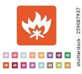 the fire icon. bonfire symbol.... | Shutterstock .eps vector #259087937