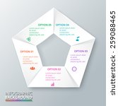 vector circle pentagon...   Shutterstock .eps vector #259088465
