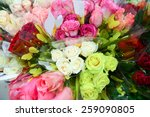A Flower Bouquet With A Lot Of...