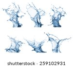 water splash collection... | Shutterstock . vector #259102931