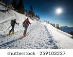 randonnee ski trails   Shutterstock . vector #259103237