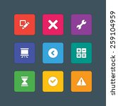 material design style icons...