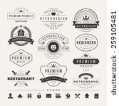 retro vintage insignias or... | Shutterstock .eps vector #259105481