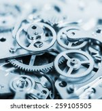 clock mechanism made in the... | Shutterstock . vector #259105505