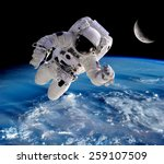 Astronaut Spaceman Outer Space...