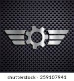 metal gear with wings. vector... | Shutterstock .eps vector #259107941