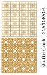 golden metallic grid with art... | Shutterstock .eps vector #259108904