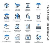life protection icons   blue... | Shutterstock .eps vector #259114757