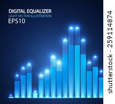 digital equalizer. vector... | Shutterstock .eps vector #259114874