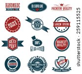vintage labels set. vector... | Shutterstock .eps vector #259115525