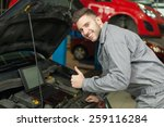engine test approved. smiling...   Shutterstock . vector #259116284