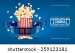 popcorn for movie theater and... | Shutterstock .eps vector #259123181