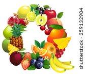 illustration letter q composed...   Shutterstock . vector #259132904
