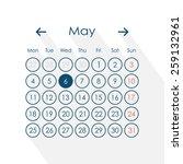 vector illustration of calendar ... | Shutterstock .eps vector #259132961