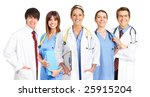 smiling medical people with... | Shutterstock . vector #25915204