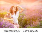 beautiful young woman... | Shutterstock . vector #259152965