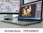 photographers computer with...   Shutterstock . vector #259160825