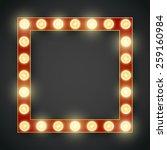 vector decorative 3d volumetric ... | Shutterstock .eps vector #259160984