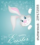 grey easter bunny looking out a ... | Shutterstock .eps vector #259172555